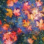 """Fall Leaves Jewel Colors"" by marilynsholin"