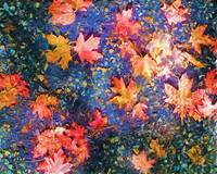Fall Leaves Jewel Colors