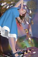 Flying Cards Dissolve Alice's Dream