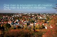 Quote: One man is equivalent...