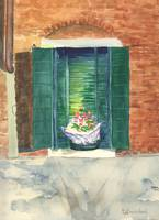Murano Window with Flowers