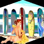 """Retro Pinup Surf Girls"" by 12Steps"