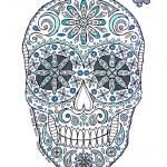 """""""aqua sugar skull"""" by staceycreek"""