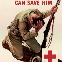 Red Cross Your Blood Can Save Him Art Prints & Posters by Leo KL