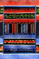Blue and Red Traditional Bulgarian Rug