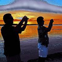Photographers At Sunset Art Prints & Posters by Eduardo DeMartino