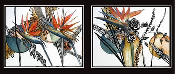 Bird of Paradise I and II (a composite of two imag