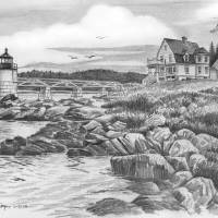 Marshal Point Lighthouse by Roger Dullinger