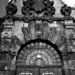 """Amsterdam Gate Black and White"" by MarkoMitic"