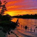 """Sunset at Lock Park Chesapeake VA"" by nancielaing"