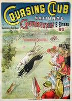 Poster advertising the opening of the Coursing Clu