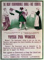 Women's Suffrage Poster The Right Dishonourable Do