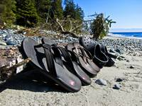 Shoes on China Beach, BC
