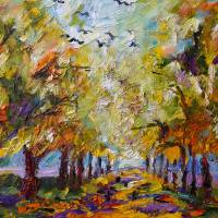"""Where Crows Dream - Oil Painting by Ginette Callaw"" by GinetteCallaway"