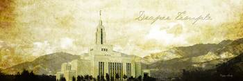 Draper Temple (mountain view)