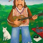 """Hippy, Dog and The White Album."" by kevin-smith-art"