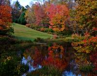 Fall Scene In Petersham Massachusetts