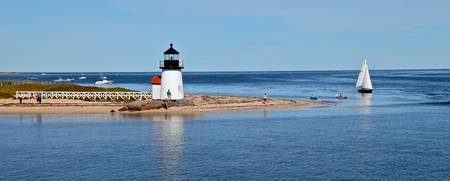 Nantucket Harbor & Brant Point Lighthouse