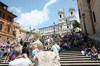 Stairway to Piazza di Spagna.