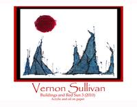 Buildings + Red Sun-3-adv Poster VERNON SULLIVAN