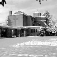 """St Johns Shaughnessy Vancouver in Snow"" by Priscilla Turner"