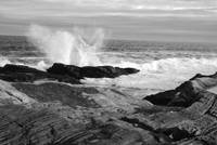 Pemaquid Point Waves B&W