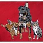 """""""Abby, Monty and Speedracer"""" by VeganMe"""