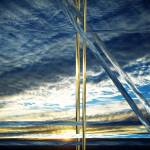 """""""Blue Ripple Sky Abstract"""" by Attentiongetters"""