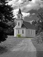 Riverside Presbyterian Church 1800s BW