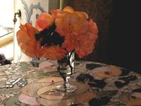 Flowers on Mosiac Table