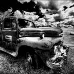 """Old merc truck B&W version"" by Kerry_Sheppard"