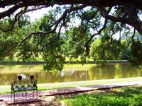 Natchitoches Cane River Rue Beau Port bench 06