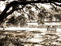 Downtown Natchitoches Cane River sepia 07