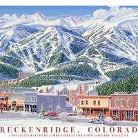 """Breckenridge Main Street"" by jamesniehuesmaps"