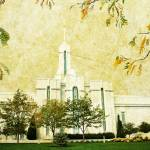 """Mount Timpanogos Temple vintage"" by brycegandy"