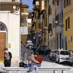 """""""Lovers in Santa Croce"""" by matteopaints"""