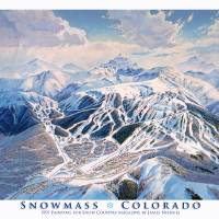 """Snowmass Colorado"" by jamesniehuesmaps"