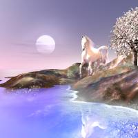 White Horse Art Prints & Posters by Anne Vis
