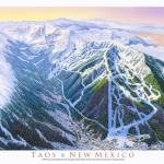 """Taos Valley"" by jamesniehuesmaps"
