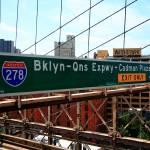 """Brooklyn Bridge Road Signs"" by Ffooter"