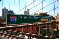 Brooklyn Bridge Road Signs