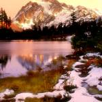 """Early snow on Mount Shuksan"" by RichardDuval"