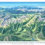 """Rocky Mountain National Park"" by jamesniehuesmaps"