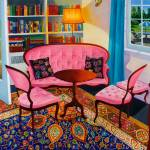 """The Pink Sofas"" by Roxa"