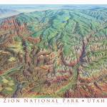 """Zion National Park"" by jamesniehuesmaps"
