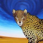 """Cheetah with Blue Sky"" by ryanwitterarts"