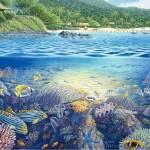 """Blue Lagoon, Fiji"" by jamesniehuesmaps"