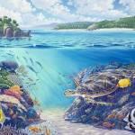 """Turtle Waters, Fiji"" by jamesniehuesmaps"