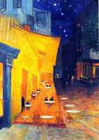 The Cafe'  Terrace at Night