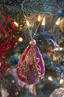 Victoriana Egg a Christmas Tree Ornament for Cards